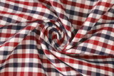 Marron/Navy Checks Twill 60 Cotton 40 Polyester Fabric Shirting