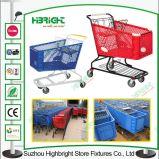 180L Plastic Supermarket Shopping Trolley Cart