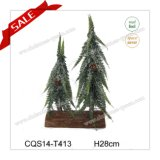 28cm Hot Sale Artificial Christmas Tree Christmas Decoration with Ice
