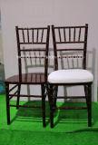 Stacking Wooden Mahogany Color Chiavari Chair/Silla Tiffany Chair