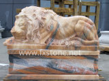 Sleep Hand Carved Marble Lions