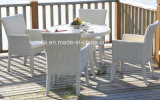 PU Leather Rattan Dining Set Garden Set