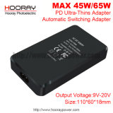 Mini 45W Laptop Pd Charger, Type-C Ultra-Thins Adapter Automatic Switching Power Adapter