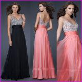 V-Neck Chiffon Sequins Maternity Pregnant Party Dress E52710