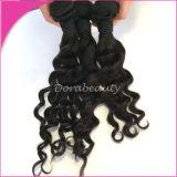 Virgin Indian Human Hair Loose Curl Hair Weaving