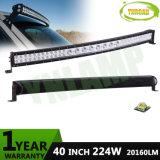 12V 40inch 224W CREE Hybrid Rows LED Curved Light Bar