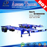 2 Axle Extendable Sliding Skeleton Container Trailer Chassis
