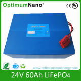 24V 60ah LiFePO4 Battery, Environment Friendly Solar Storage Battery Pack