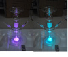 50mm Glass Shisha Hookah with 7 LED Colors Glass Russia Hookah