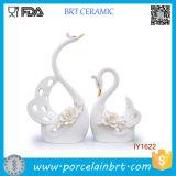 High Elegant White Swans Ceramic Wedding Decorations