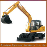 High Efficient Htl150 Hydraulic Wheel Excavator with Imported Motor