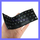 Sweet Candy Style Ultra Slim Flexible Roll up Fold Silicone Wireless Bluetooth Keyboard for iPad Air
