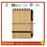 A6 Spiral Bamboo Notebook with Eco Pen