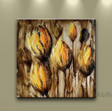 Handmade Canvas Art Flower Oil Painting on Canvas (FL1-014)
