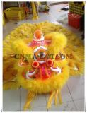 Great Handcraft Artwork Yellow Color Lion Dance Costume Good Price
