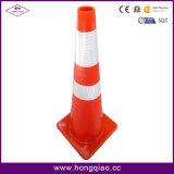 36 Inch Traffic Cone Full Fluorescent Orange PVC