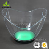 Rechargeable LED Light Boat-Shape Plastic Ice Bucket