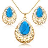 Hot Selling Dubai Gold Women Lady Alloy Turqoise Jewelry