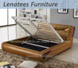 A013-1 Middle Eastern Lift up Storage Modern Leather Wooden Bed