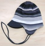 Chinldren′s Strip Knitting Hat for Winter