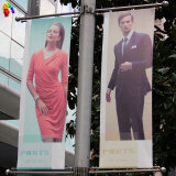 Outdoor Digital Printing Hanging Street Flag Banner with Pole