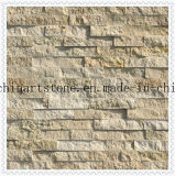 China Nature Stone Yellow, Golden, Rustic Marble Tile for Wall