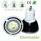 Dimmable 3W Black GU10 COB LED Light