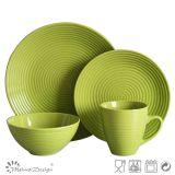 16PCS Round Swirl Ceramic Dinner Set