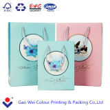 2016 Custom Printed Logo Christmas Paper Bags with Cotton Handles