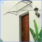 DIY Manual Transparent Plastic Awning for Door