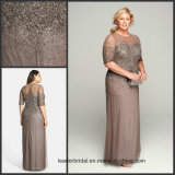Plus Size Mother Formal Gown Chiffon Beading Evening Dress Z1005