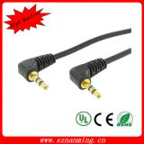 3.5mm Male to Male Angle Plug Audio Extension Cable