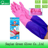 Pink Long Cuff Household Gloves