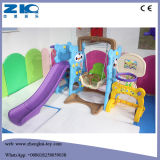 Panda Plastic Slide with Swing and Basketball