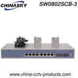 1000Mbps 10 Ports Ethernet Switch with Built in Power (SW0802SCB-3)