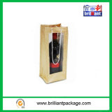 Cheap Promotion Wine Bottle Bags with Jute Material