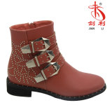 Women PU Shoes Young Lady Footwear Fashion Ankle Boots (AB612)