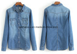 Wholesale Women Clothes Big Sizes Casual Long-Sleeved Denim Shirt