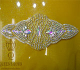 Golden Bride Wedding Dress Rhinestone Belts, DIY Accessories