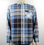 Factory Directly! ! Stock Checked Shirts for Men
