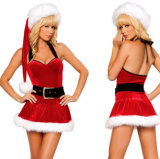 Wholesale Holiday Ties Christmas Costume Women Sexy Dress