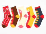 Women′s Cotton Crew Happy Socks (WA023)