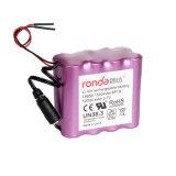 12000mAh 3.7V Ifr18650 Li-ion Battery Pack for Emergency Light