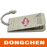 Fold Kraft Cardboard 4c Printing Clothing Hang Tag