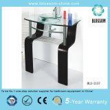 Floor-Mounted Bathroom Glass Vanities (BLS-2157)