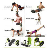 Ab Roller Abdominal Exercise Pull Rope Workout Machine