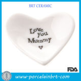 White Wholesale Love Shape Porcelain Dish