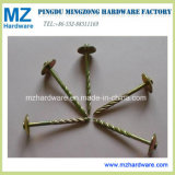 Yellow Zinc Plated Twisted Shank Umbrella Head Roofing Nail