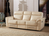 Genuine Leather Chaise Leather Sofa Electric Recliner Sofa (749)
