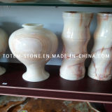 High Quality White Marble Stone Flower Vase for Cemetery